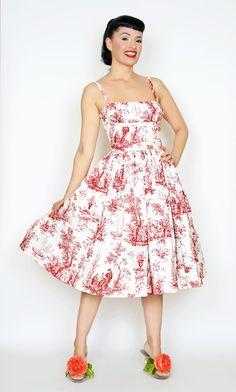 Paris Dress Romantic Red Toil - Bernie Dexter