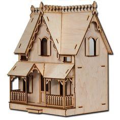 "Amazon.com: Half Scale Arthur Laser Cut Dollhouse Kit 1/2"" Scale: Toys & Games"