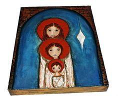 Holy Star Nativity  Original Mixed Media Painting on by FlorLarios
