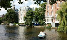 Amsterdam waterbiking