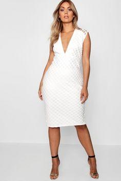 Plus Bea Lace Plunge Midi Dress