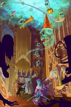 Resultado de imagen para color scheme haunted mansion