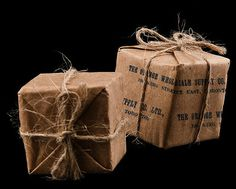 Stamped brown paper. #wrapped #wrapping #gift
