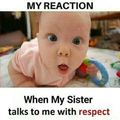 Here is the videos with most funny babies Locomotion that will make your stress 0 level. Brother And Sister Memes, Sister Quotes Funny, Brother Quotes, Brother And Sister Relationship, Funny Minion Memes, Funny School Jokes, Some Funny Jokes, Really Funny Memes, Crazy Funny Memes