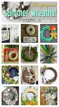 20 Gorgeous Summer Wreaths | So Much Better With Age