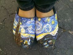 Starry Night Custom Toms Shoes