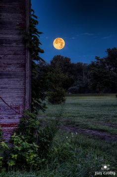 The July 22 2013 Supermoon rising over rural Ohio. Moonlight Photography, Nature Photography, Thunder Moon, Moonlight Painting, Espanto, Moon Pictures, Good Night Moon, Beautiful Moon, Super Moon