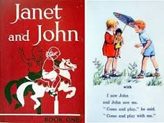 Janet & John books - how I hated having to listen to everyone reading them. I could already read and felt as though I was being punished for being different. I actually enjoyed being ill and having to stay home - school was torture for me. 1970s Childhood, My Childhood Memories, Janet And John Books, Vintage Children's Books, Vintage Stuff, School Memories, Old Tv, My Memory, The Good Old Days