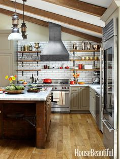 A Sturdy, Industrial Kitchen in Napa Valley
