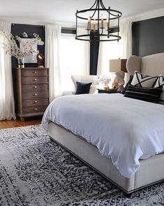 Dark painted bedroom