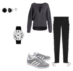 """""""Comfy Yet Confident"""" by zuzu00099 ❤ liked on Polyvore featuring Vince, Puma, adidas Originals and Rosendahl"""