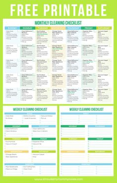 Learn how to maintain a clean home with this printable cleaning schedule! It's easy to print out and check the finished items off the list!