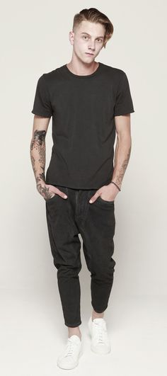 DRIFTER Saferris Distressed Tee styled with Chivalry Cropped Pant