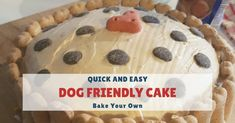 Peanut Butter & Carrot Dog Birthday Cake: Quick & Easy Recipe In this article we show you a quick and easy dog birthday cake recipe that you can use to make a large cake or serval dog cupcakes from which… Easy Dog Cake Recipe, Cake Flour Recipe, Dog Cake Recipes, Dog Friendly Cake, Peanut Butter For Dogs, Cupcake Birthday Cake, Birthday Cake For Dogs, Diy Birthday, Carrot Dogs