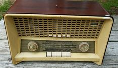Norelco Phillips B4X-87A B4X87A AM FM SW Tube Radio Wooden Case ShortWave #Norelco