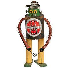 Folk Art Robot # 857 Hugo - Relique
