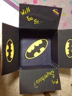 This Batman Package is perfect! There's tons more ideas on the site.