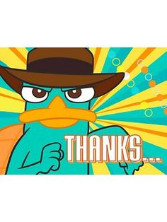 Phineas and Ferb Agent P Thank You Notes 8 Pack $2.72 #topseller