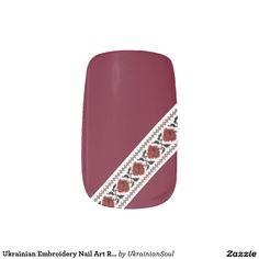 "CLICK ""MINX"" TO PURCHASE Ukrainian Embroidery Nail Art Roses Minx® Nail Wraps"