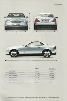 Mercedes SLK brochure 1999 - I used to have this car and loved it!!!!