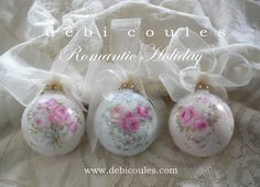 Absolutely gorgeous #handmade #shabby #chic #ornaments - by Romancing the home - tå√