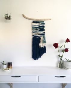 Coastal inspired weaving. House of Woolly Thyme tapestry