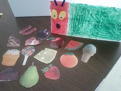 The very hungry caterpillar, a craft to do with a younger group of children.