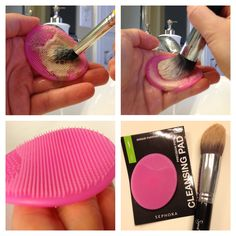 Sephora's cleaning pad for makeup brush cleaning. Works great!