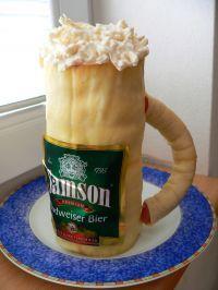 slaný pivo dort
