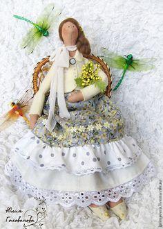 """Купить ТИЛЬДА """" Нежная мимоза"""" - тильда, кукла Тильда, тильда ангел, тильда кукла ♡"""