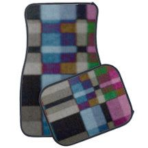 Multicolored Pattern Car Mats designed by Gina Lee Manley ©gleem