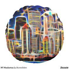 NY Manhattan Rundes Kissen