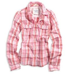 Pink plaid long sleeve shirt. For when you want to have a plaid in your daily outfit or need some soft color for a splash of just perfect♥