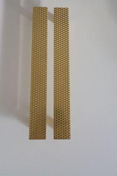 Pair of Luxury GOLD Door / Wardrobe handles Rectangular, Italian made. Gold Door, Wardrobe Handles, Door Ideas, Shutter, Door Handles, Hardware, Interiors, Doors, Interior Design
