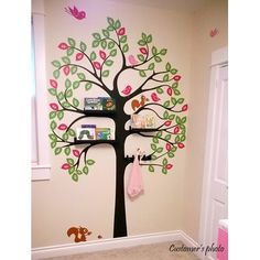 Shelving Tree with Birds and Squirrels Wall Decal $86.99 by Wayfair