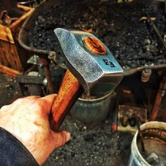 """2.5lb Hex cross peen hand forged from 1-¾"""" 4140."""
