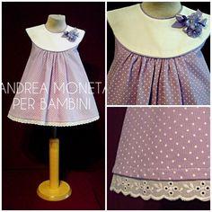 Coquetos Vestidos de Piqué para Bebé de Andrea Moneta Per