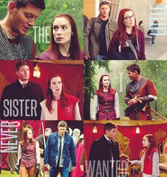 "castielus:    spn meme → five brotps [4/5]      ↳ dean/charlie  ""She's like the little sister I never wanted."""