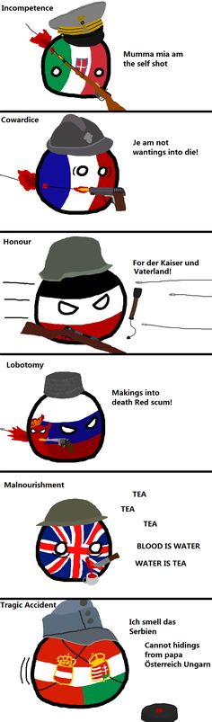 Self Inflicted Injuries: WWI | Polandballs Countryballs