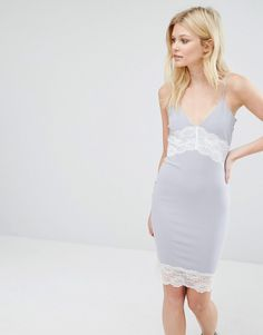 Missguided+Petite+Contrast+Lace+Slip+Dress