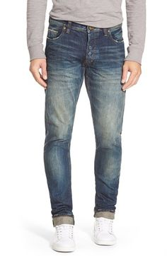 PRPS 'Fury' Slouchy Slim Fit Selvedge Jeans (1 Year Wash) available at #Nordstrom