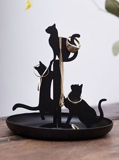 The Cat's Meow Jewelry Stand at ShopPlasticland.com Tap the link for an awesome selection cat and kitten products for your feline companion! #CatAndKittens