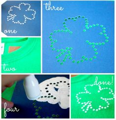 Make your own fabric paint stencil using rhinestone template designs. // Ginger Snap Crafts