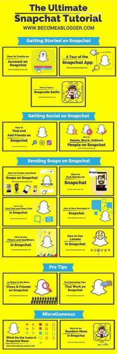 The Ultimate Snapchat Tutorial. The Comprehensive (and FREE) Snapchat Tutorial that will take you from Snapchat Newbie to Snapchat Pro!