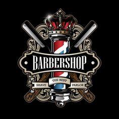 Vintage Barber Shop Logo And Vector Elements Barber Poster, Barber Logo, Logo Barbier, Logo Boutique, Barber Tattoo, Barber Shop Decor, Barbershop Design, Best Shave, Shop Logo
