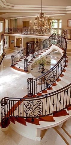 55 Luxurious Grand Staircase Design Ideas That are Just Spectacular Grand Staircase, Staircase Design, Double Staircase, Grand Foyer, Grand Entrance, House Goals, Luxury Living, Interior And Exterior, Interior Design