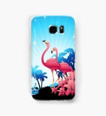 #25%OFF #Phone #cases & #Wallets! On #BluedarkArt's #Redbubble #Shop!   Use code BTSCASES25 >> https://www.redbubble.com/people/bluedarkart/shop/device-cases?accordion=department&asc=u&page=2      @redbubble​    Pink Flamingos on Blue Tropical Landscape Samsung Galaxy Case/Skin