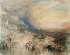 'Storm in the St Gotthard Pass. The First Bridge above Altdorf: Sample Study', Joseph Mallord William Turner | Tate