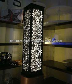 Floor lamp led light $40~$60 Living Room Partition Design, Room Partition Designs, Ceiling Design Living Room, Columns Decor, Interior Columns, Door Design, Wall Design, New Ceiling Design, Deco Cafe