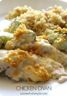 Easy and impressive Dinner Idea - Recipe for Chicken Divan